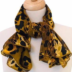 Céline Black and Gold Vintage Scarf/Wrap.